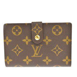 Auth LOUIS VUITTON Portefeuille Viennois Bifold Wallet Monogram Brown